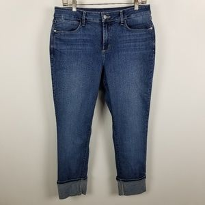Not Your Daughter Jeans Alina Capri Dark Wash 8